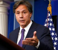 بلينكن يتعهد بالإبقاء على السفارة الأميركية بالقدس