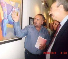 الفنان التشكيلي احمد عبد الرضا فنان من جيل الرواد