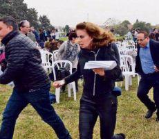 يديعوت تنشر فضيحة الوزير الليكودي 'القرا' لحظة هروبه اثناء سقوط 'صاروخ' من غزة