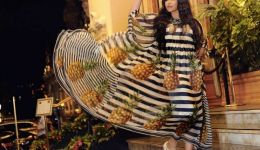 احلام تثير الجدل بفستان 'الاناناس' من موناكو!