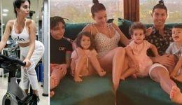 جورجينا تلمح مجددا بحملها بالطفل الخامس لرونالدو