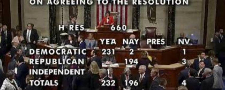 'النواب الأميركي' يصوت لصالح قرار يسمح ببدء إجراءات عزل ترامب