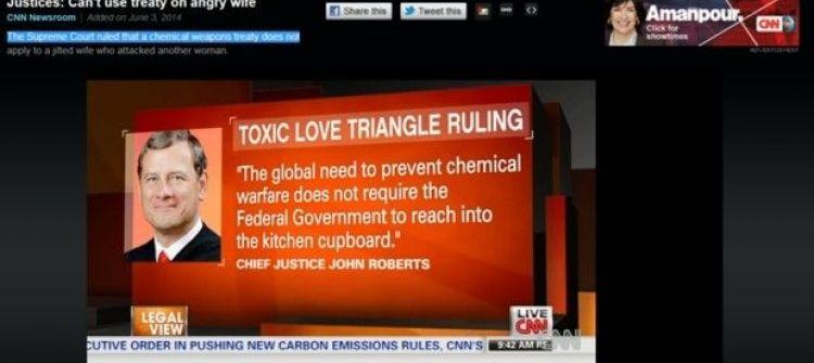 حاولت إيذاء عشيقة زوجها... فاتهمها الإدعاء بانتهاك معاهدة حظر الأسلحة الكيماوية