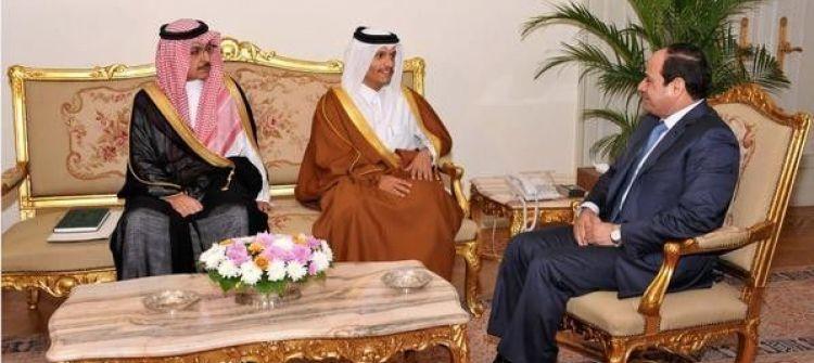 السيسي يستقبل مبعوث قطر بوساطة سعودية