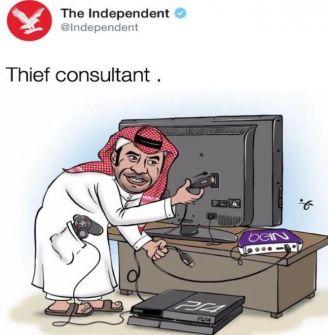 كاريكاتير لـ'الإندبندنت' البريطانية يسخر من حصار قطر واستهداف 'بي ان سبورتس'!