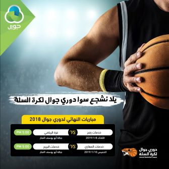 نهائي دوري جوال لكرة السلة الخميس في غزة