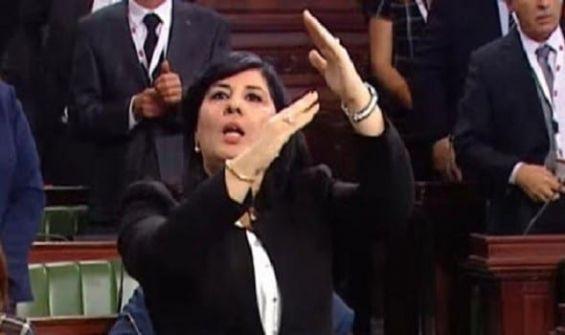 ضرب عبير موسى تحت قبة برلمان تونس