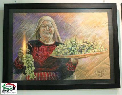 جذور تتألق بريشة الفنان التشكيلي رائد القطناني...قلم: زياد جيوسي