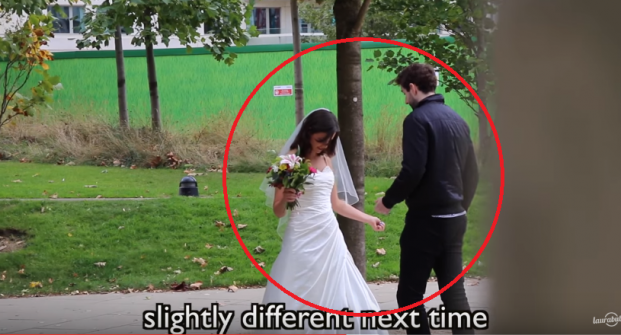 'تجربة إجتماعية'.... تعرفت على الرجال وقابلتهم بفستان الزفاف.. شاهد ردة فعلهم الصادمة