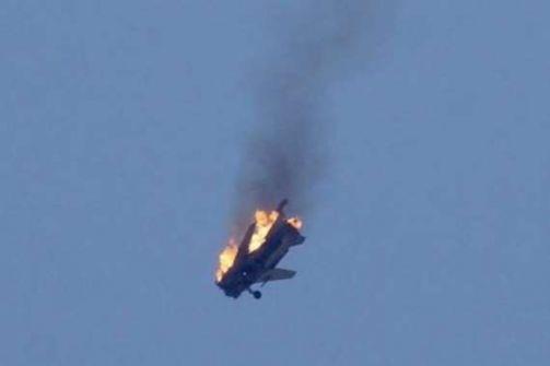 اصطدام طائرتين امريكيتين في الجو