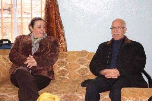 الجعبري وعمرو يتفقدان المدرسة الابراهيمية في البلدة القديمة من الخليل