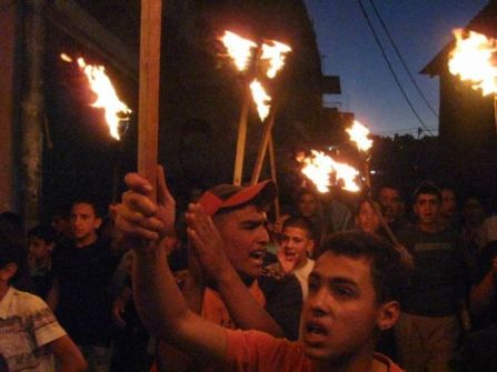فجرا..مسيرة غاضبة بمخيم الدهيشة رفضا لجرائم الاحتلال
