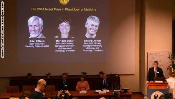 الأمريكي أوكيفي يقتسم 'نوبل للطب' مع النرويجيين موسر لاكتشاف 'جي بي إس' الدماغ