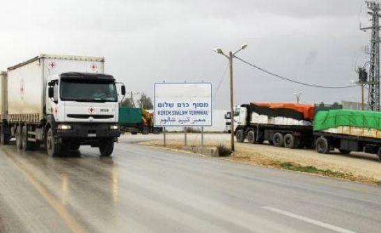 250 شاحنة تعبر كرم أبو سالم اليوم
