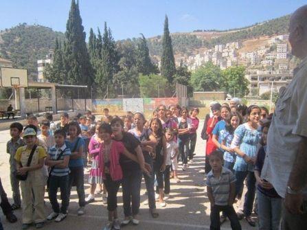 الاغاثة الزراعية تفتتح مخيمها الصيفي البيئي ( حديقتنا ) في مدرسة  نابلس الاساسية المختلطة