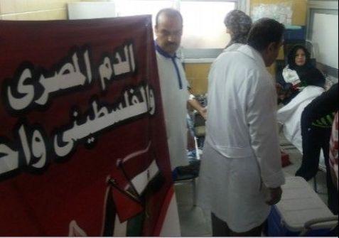 القاهرة : انطلاق حملة تضامنية للتبرع بالدم من أبناء الجالية الفلسطينية بمصر