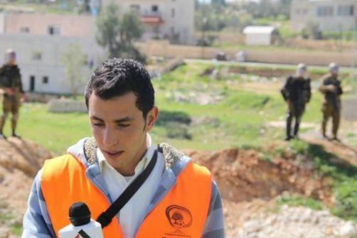 اعتقال الصحفي محمد عطا الله التميمي من منزله واقتادته لجهة مجهولة