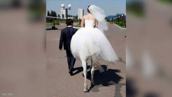 باريدوليا.. 'المرأة الفرس' تتزوج