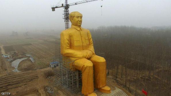 تدمير تمثال ذهبي في الصين بعد أيام من نصبه