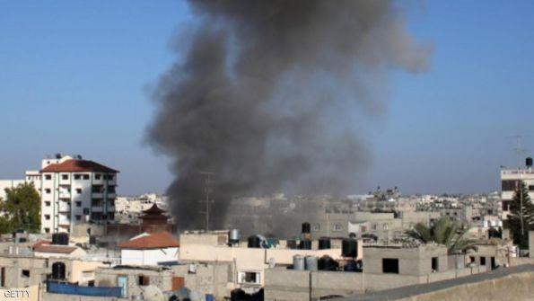 غارات إسرائيلية على 4 مواقع بغزة