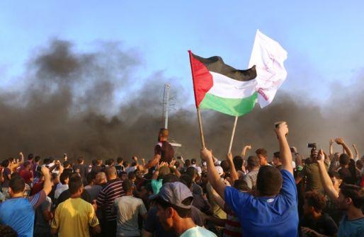 استعدادات للمشاركة في جمعة موحدون في مواجهة صفقة القرن ضمن مسيرات العودة في غزة