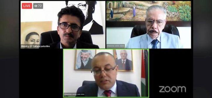 الوزير أبو سيف يطلق ملتقى فلسطين الثالث للرواية العربية عبر الإنترنت