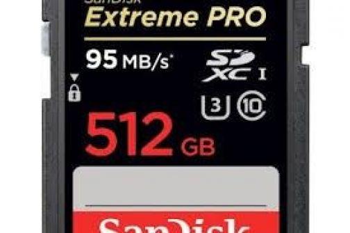 أكبر بطاقة تخزينية في العالم بسعة 512 جيجا بايت