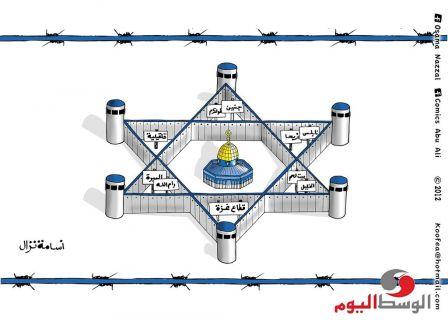 القدس بربشة الفنان أسامة نزال