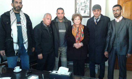 الوزيرة إم جهاد تستقبل وفدا كبيرا من المكتب الحركي المركزي للجرحى بغزة