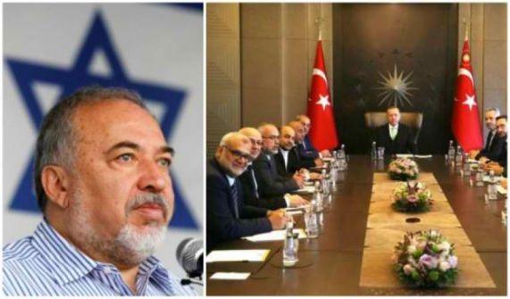 ليبرمان: مكان نواب القائمة المشتركة في تشريعي رام الله وليس الكنيست بعد لقائهم مع أردوغان