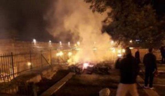فيديو- السيطرة على حريق اندلع على سطح المصلى المرواني في المسجد الأقصى