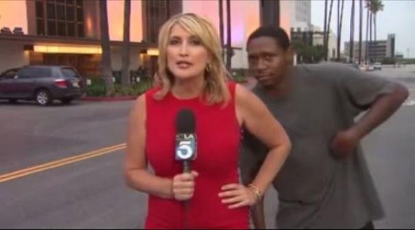 فيديو: لماذا أصيبت المراسلة بالذعر؟