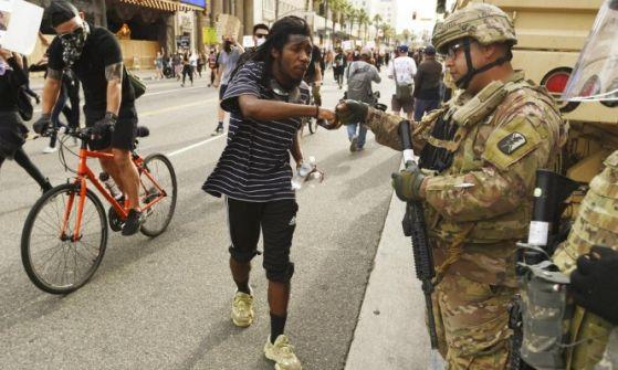 نقل 1600 جندي لواشنطن:تصاعد الاحتجاجات في الولايات الامريكية