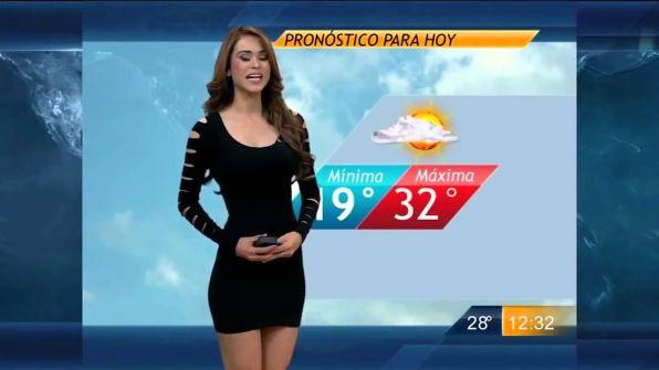 شاهد… مقدمة برنامج الطقس المكسيكية تثير الجدل بملابسها