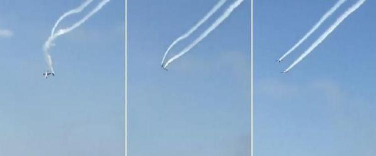 فيديو مروع.. تصادم طائرتين في عرض جوي بإيطاليا