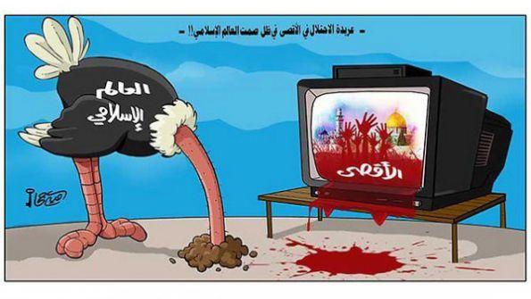 يديعوت أحرونوت: العرب يحاربون إغلاق المسجد اﻷقصى بـ' الكاريكاتير'