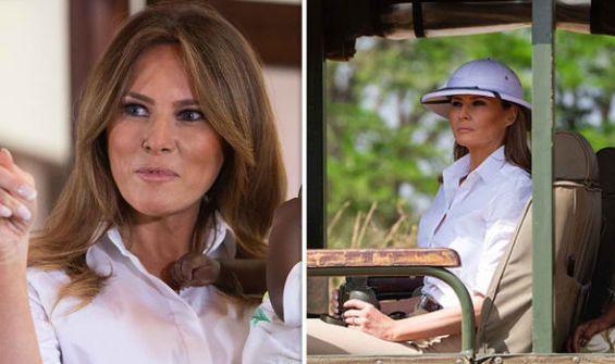 ميلانيا تخاطب المصريين من كنيا معتمرة قبعة الاستعمار: لولانا لكنتم في مأزق حرج