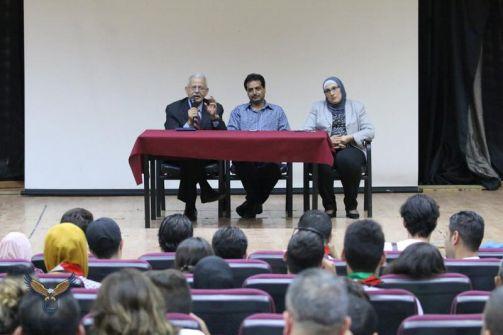 أ.د. أبو أصبع يلتقي المشاركين في الملتقى الثقافي التربوي الفلسطيني التاسع