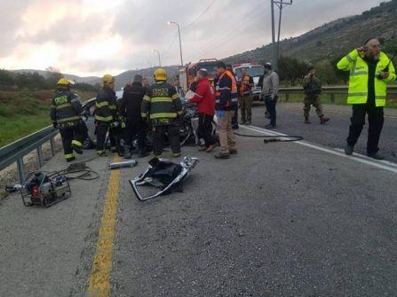 مصرع إسرائيليين بحادث سير قرب اللبن الشرقية