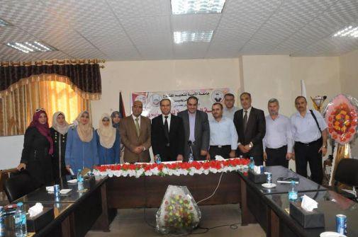 جامعة الأمة وغرفة تجارة غزة تنظمان ورشة عمل حول الكايزن