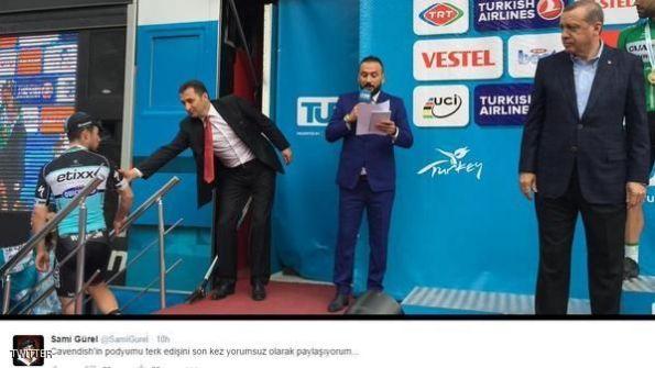 ملّ الدرّاج من خطاب أردوغان فترك منصة التتويج