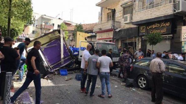 إصابات في انفجار بمحل وسط رام الله