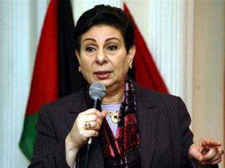 عشراوي تدين حملة إسرائيل الممنهجة لإخماد الصوت الفلسطيني