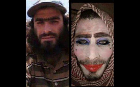 """بالفيديو والصور:تنكر كامرأة ونسي شاربه.. أغبى """"داعشي"""" اعتقلوه في العراق"""