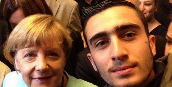 سيلفي مع ميركل يقلب حياة لاجئ سوري