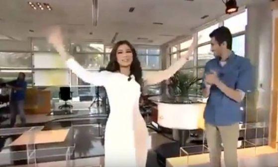 فيديو:مذيعة العربية ترقص