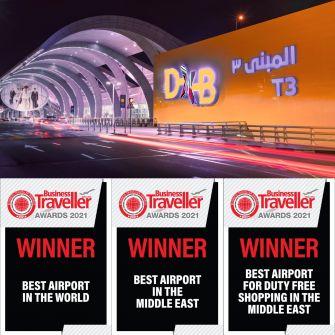 مطار دبي الدولي يفوز بجائزة أفضل مطار في العالم