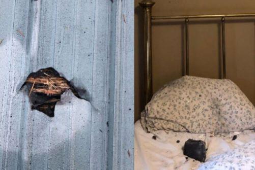 شيء من السماء سقط على وجه امرأة أثناء نومها