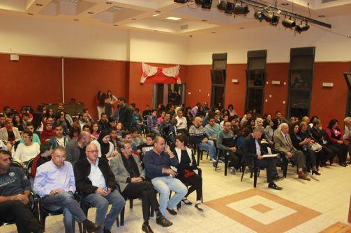 العرض الثالث لمسرحية سرحان والماسورة على خشبة محمود درويش بحضور وفد من مؤسسة توفيق زياد من الناصرة