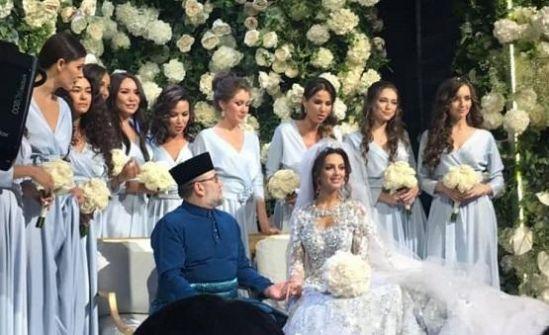 زواج ملك ماليزيا والحسناء الروسية على المحك